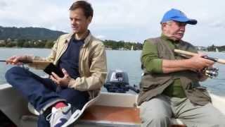 Jürg versucht Fische zu fischen mit und ohne Sonar