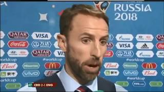 Gareth Southgate emotional interview after Croatia beat England in The semi final