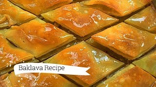 Baklava Recipe, How to Make Baklava, Easy Turkish Recipes, Middle Eastern Dessert