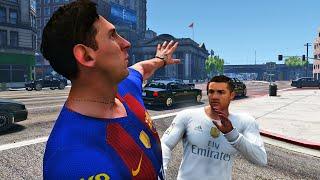 Cristiano Ronaldo pelea con Messi en GTA 5!! - RONALDO Y MESSI GTA V PC MODS