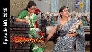 Manasu Mamata   11th August 2017  Full Episode No 2045  ETV Telugu