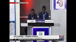 St. Peter's SHS wins this year's competition – Grand Finale on JoyNews (5-7-18)