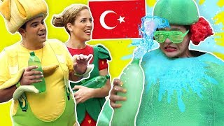 فوزي موزي وتوتي (في إسطنبول) - عصير البطيخة - Batiha Juice