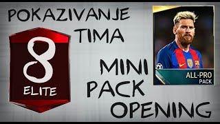 POKAZIVANJE TIMA (8 ELITE PLAYERS) + MINI PACK OPENING FIFA 17 MOBILE