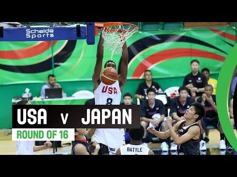 watch USA v Japan - Round of 16 Full Game - 2014 FIBA U17 World Championship