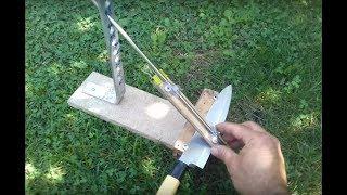 How to make DIY Knife Sharpening System Jig /Homemade DIY