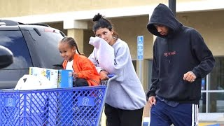 Kylie And Tyga Take King Cairo On Shopping Spree, Asked About Arrest Of Kim