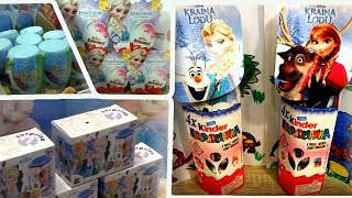 76 Disney Frozen Anna and Elsa Princess of Arendelle Kinder Surprise Eggs