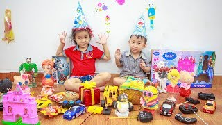 Kids Go To School | Chuns With Best Friends Play Find Food And Toys The Creativity Of Children