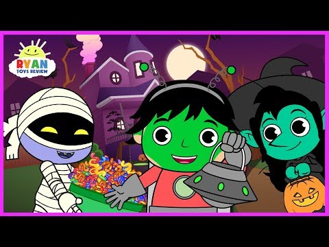 Xxx Mp4 Ryan Halloween Trick Or Treat To The Haunted House For Kids Cartoon Animation For Children 3gp Sex
