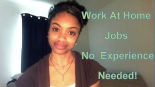 Online Jobs, No Experience, Entry Level, No Background Check (Work From Home)
