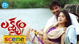 Romance of the Day 11 || Gopichand, Anushka Romantic Liplock Scene || Telugu