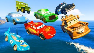 Cars Party McQueen King Tow Mater Chick Hicks Sally Sheriff - Videos for Kids Nursery Rhymes Songs
