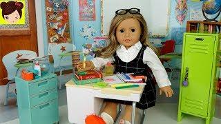 Utiles Escolares Miniatura Para Mi Muñeca American Girl - Decoración de Aula Escolar para Jugar
