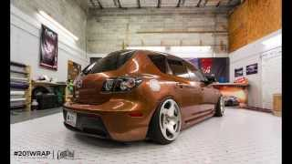 The Worlds Fastest Color Change Car Wrap on a Mazda3 -Arlon Certification at Paint is Dead
