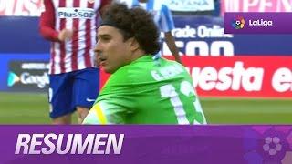 Resumen de Atlético de Madrid (1-0) Málaga CF
