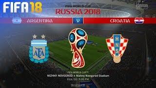 FIFA 18 World Cup - Argentina vs. Croatia @ Nizhny Novgorod Stadium (Group D)