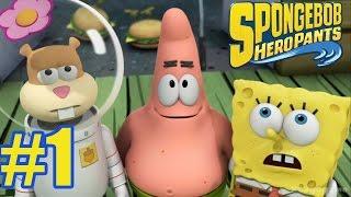 Spongebob HeroPants  - Walkthrough Gameplay Part 1 - Sponge Out of Water video game  [ HD ]