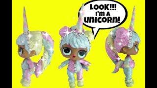 LOL Surprise Dolls STUNNING GLITTER UNICORN CUSTOM 🦄 Series 2 Baby Doll Blind Bag Balls family fun