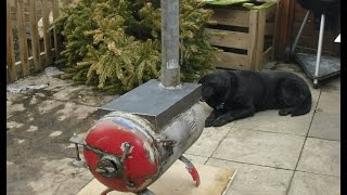 How to build a wood burning stove.