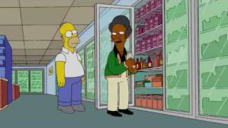 The Simpson's - Homer drinks (eats?) the expired Milk