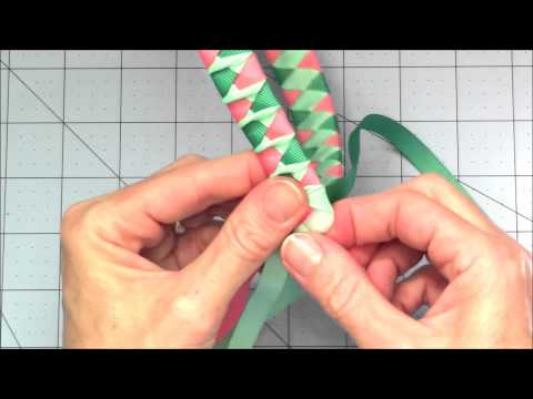 Woven Ribbon Headband with a Twist Tutorial
