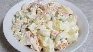 """How to make Restaurant Quality  """"Russian Salad"""" at home...."""