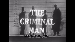"DR. DOUGLAS KELLEY  ""THE CRIMINAL MAN""  1950s CRIMINOLOGY TV SHOW    MARIJUANA & DRUG USE  62844"