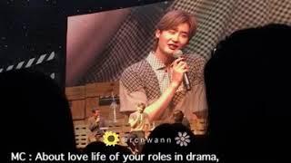 [English Subtitle] INTERVIEW: LOVE IN REAL LIFE FOR 2018 LEEJONGSUK FAN MEETING 'CRANK UP' IN BKK