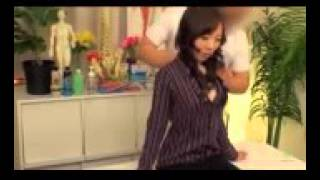Japanese Pretty girl upper body Massage Therapy   YouTube 144p