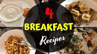 Breakfast recipes / Vellappam & Onion Chutney/Uthappam/Kothu Chappathi/Pita Bread in Tuna Masala