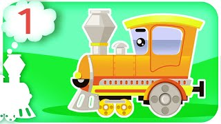 Numbers for Children to Learn with Kids Train Vehicles - Colours for Kids - Learning Videos