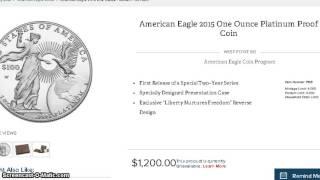 2015 1 oz Proof Platinum Coin, 35% off MrV Calendar Today