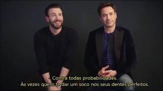 Chris Evans e Robert Downey Jr - Legendado