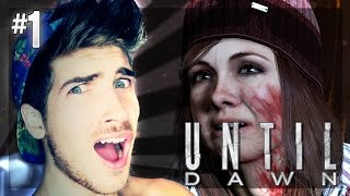 SHE'S TAKING HER SHIRT OFF?! | EP 1 | Until Dawn