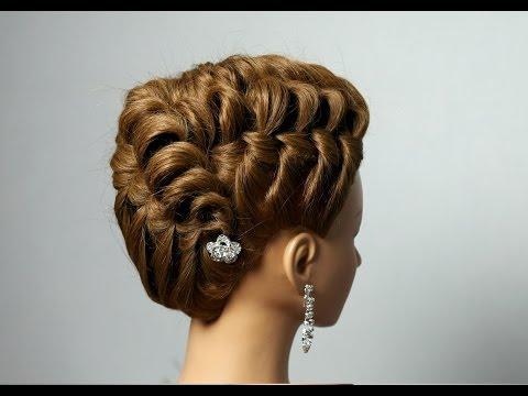 Elegant hairstyle for long medium hair.
