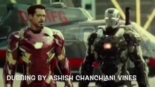 Captain America civil war tailer funny in Hindi