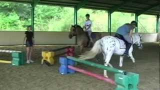 Horse jumping!! with Bloopers :D