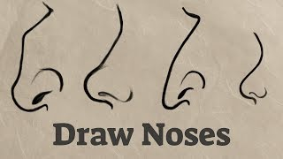 How to Draw Noses From the Side