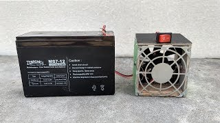 How to Make a Room Heater With 12v Battery & Fan   DIY