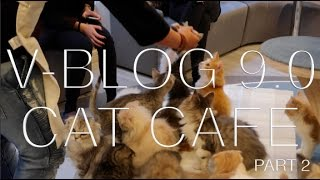 CAT CAFE + FOOD |  Alexander Wang | V-Blog 9.0 Pt 2