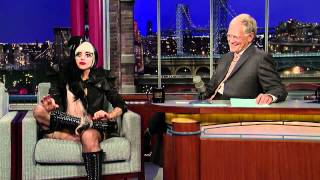 Lady GaGa Interview On The David Letterman Show