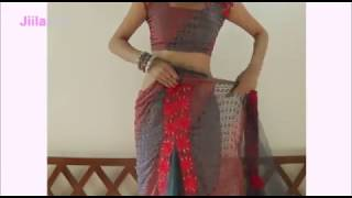 Simple Butterfly Saree Wearing:How To Tie Butterfly Sari :) For Party