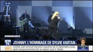 L'hommage de Sylvie Vartan à Johnny au Grand Rex hier soir