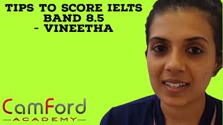 IELTS Kerala: Vinitha with 8.5 IELTS BAND @ Camford  IELTS training Trivandrum, India