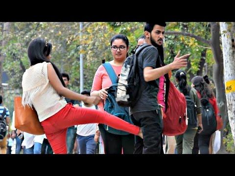 Hot Girl Kicking Balls Prank | AVRprankTV | Pranks In India