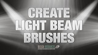 How to create Light Beam Brushes — Photoshop Tutorial