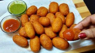 5 मिनट मे बनाये आलू ब्रेड के क्रिस्पी स्नेक्स   Tasty Potato Nuggets   Potato Snacks   Aloo Snacks.