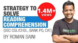 (Hindi) Tricks, Strategy to solve reading comprehension: Roman Saini (SSC CGL, Bank PO/Clerk, CAT)
