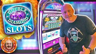 $90 BET 💎LINE HIT JACKPOT! 💎Double Diamond Free Games ➡️HANDPAY! | The Big Jackpot